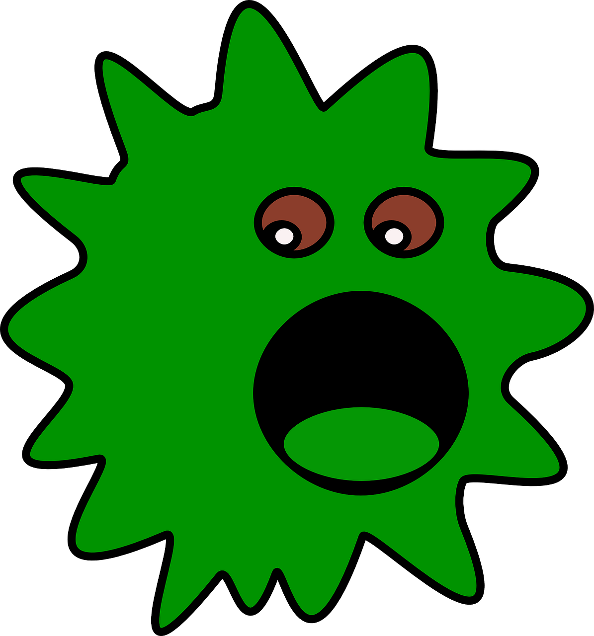 virus graphic green free photo