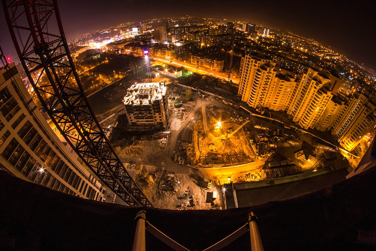 voronezh night city construction free photo