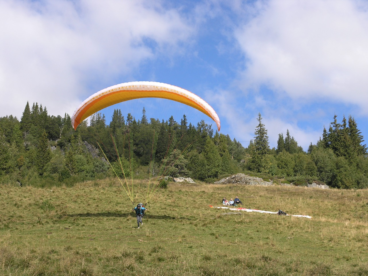 voss hang gliding sport free photo