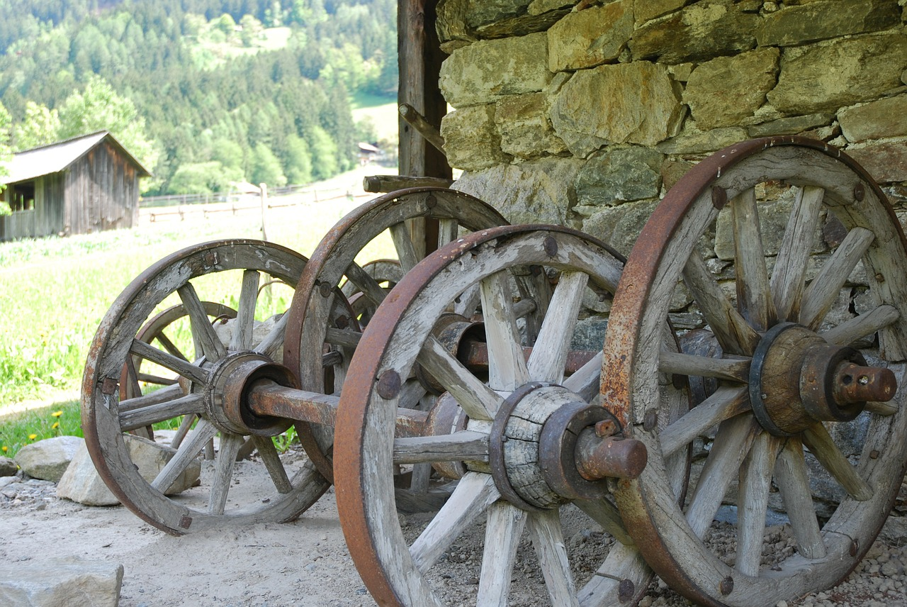 wagon wheel ancient times old free photo