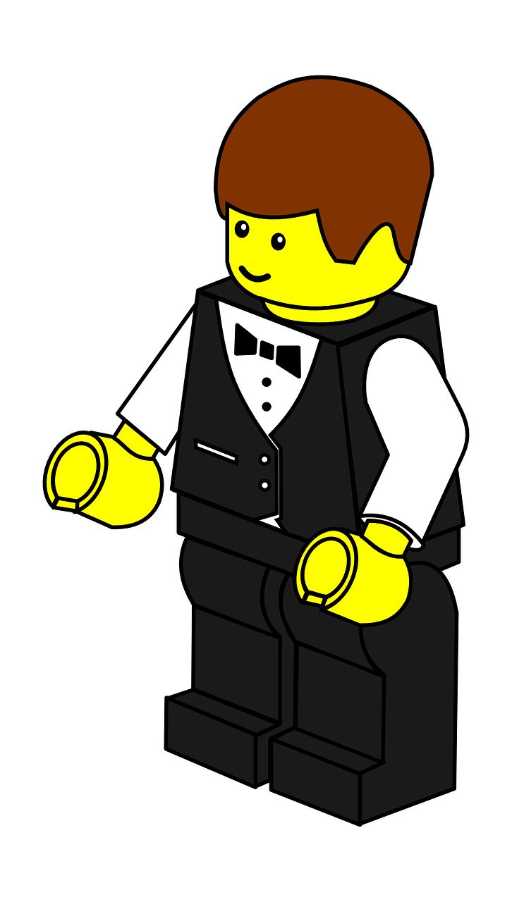 waiter man lego free photo