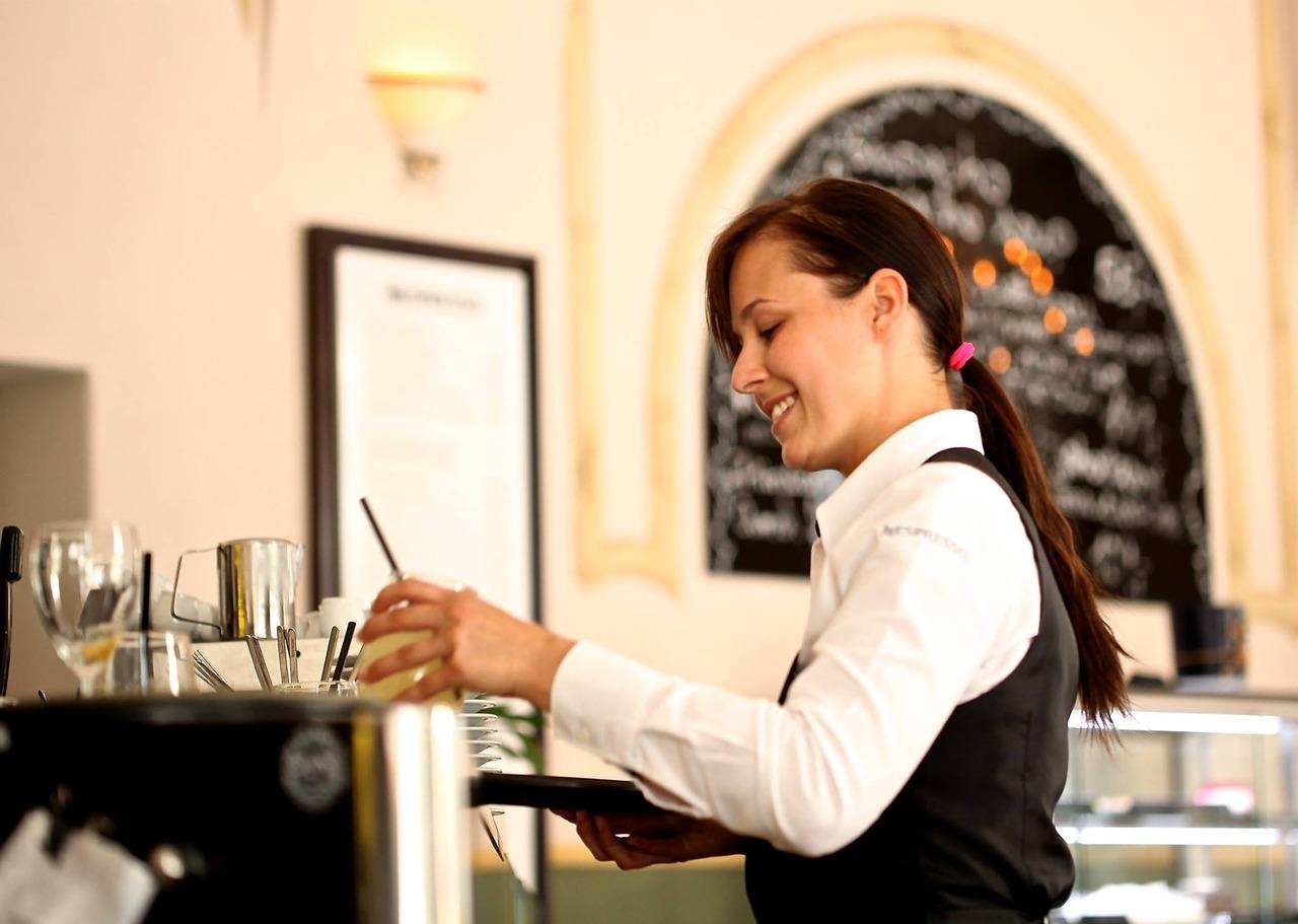 waitress the waiter restaurant free photo
