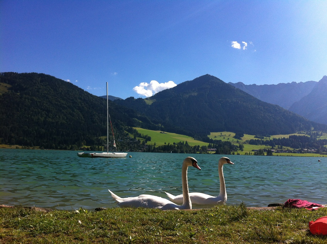 walchsee lake austria free photo