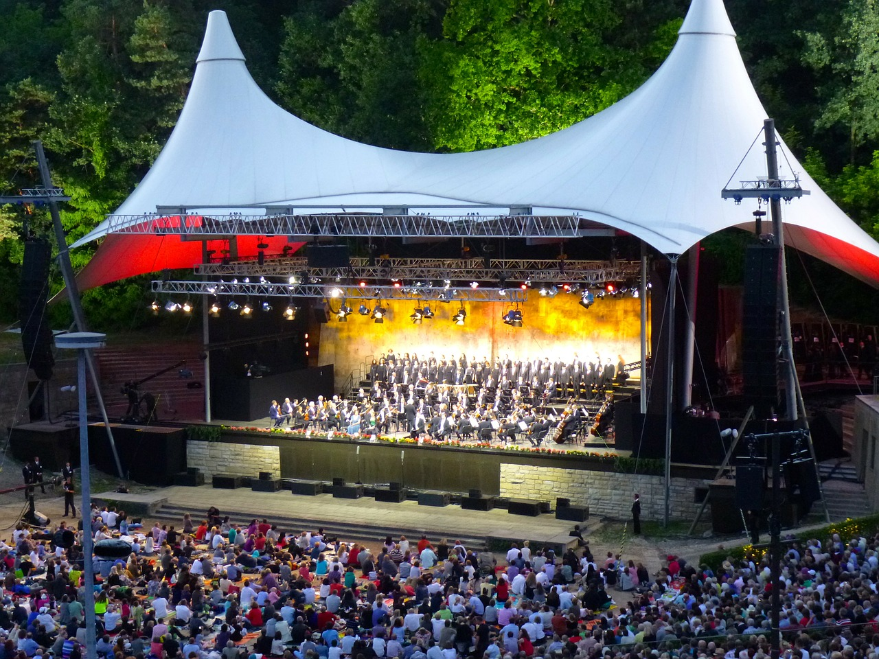 waldbühne concert berlin philharmonic orchestra free photo
