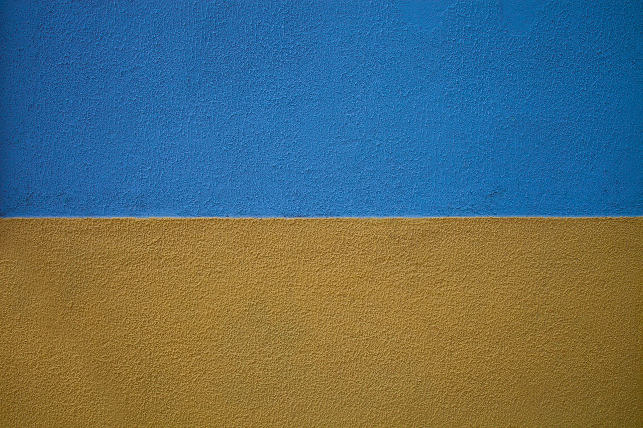 Wall,paint,painted,yellow,blue - free photo from needpix.com