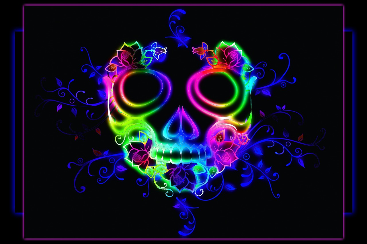 Wallpaperskulldesigndecorationdead Free Image From