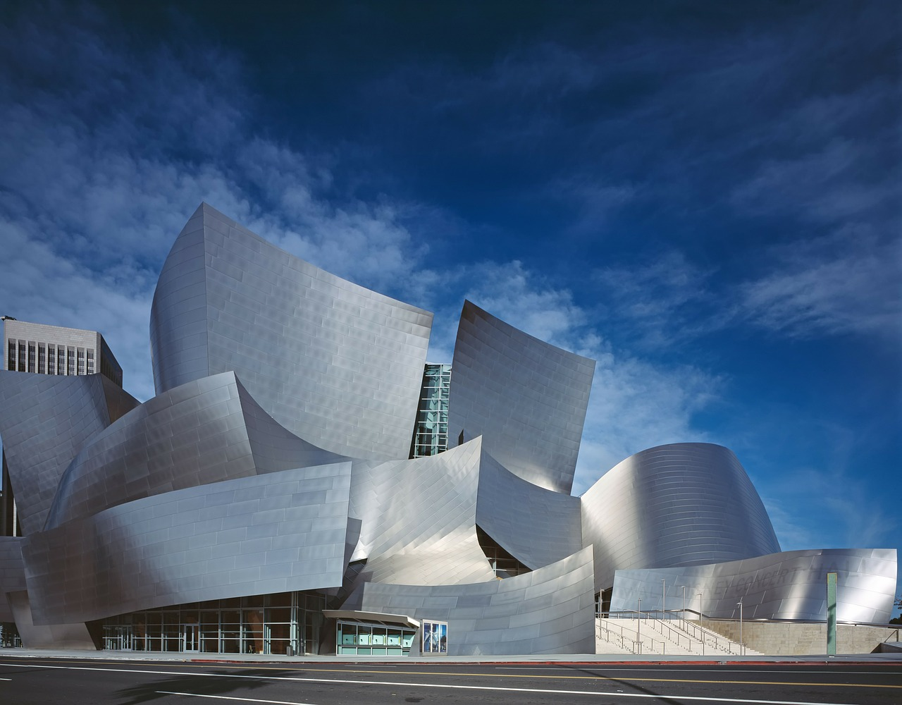 walt disney concert hall architecture building free photo