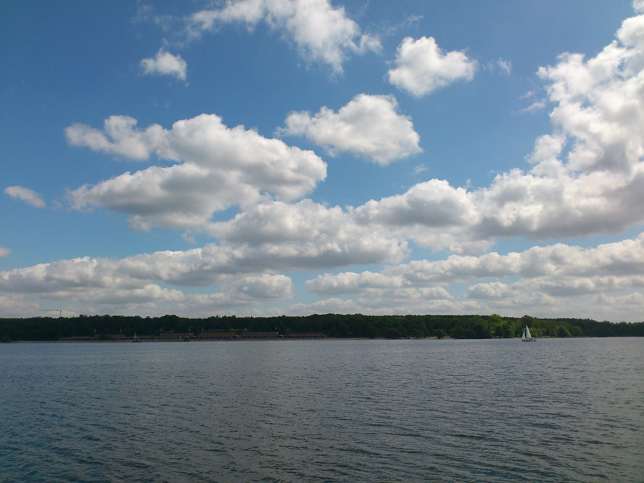 wannsee sky berlin free photo