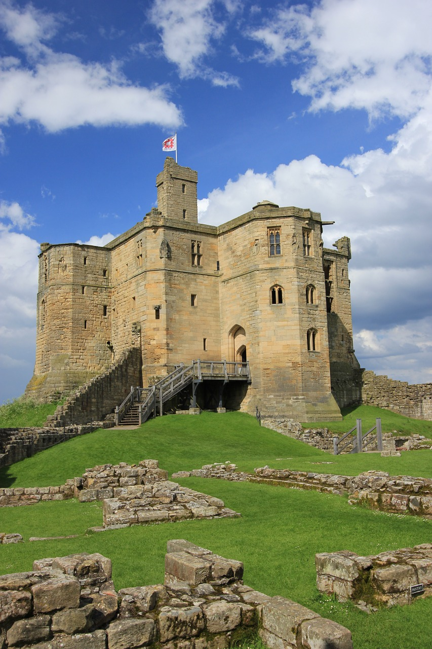 warkworth castle northumberland castle trail free photo