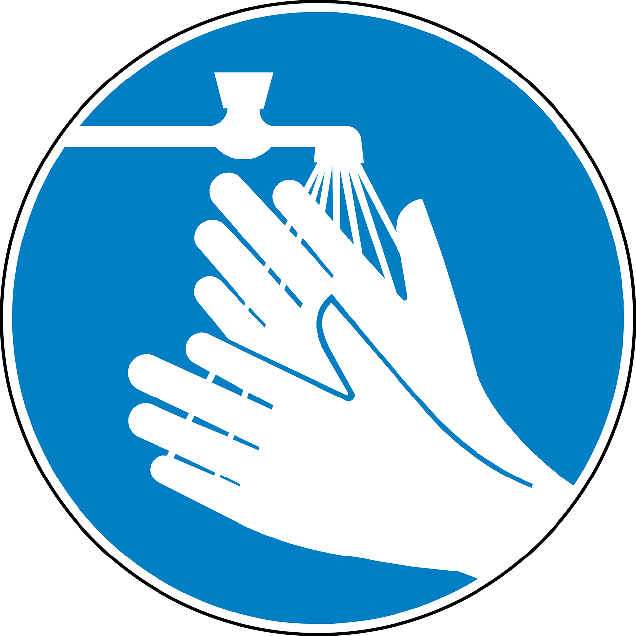 wash hands clean blue free photo