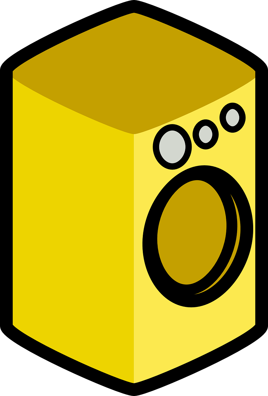 washing machine appliance yellow free photo