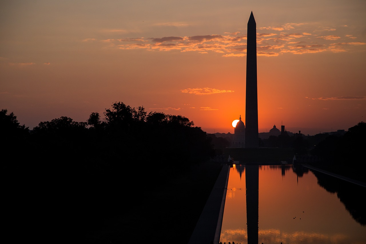 washington monument washington dc morning sunrise free photo