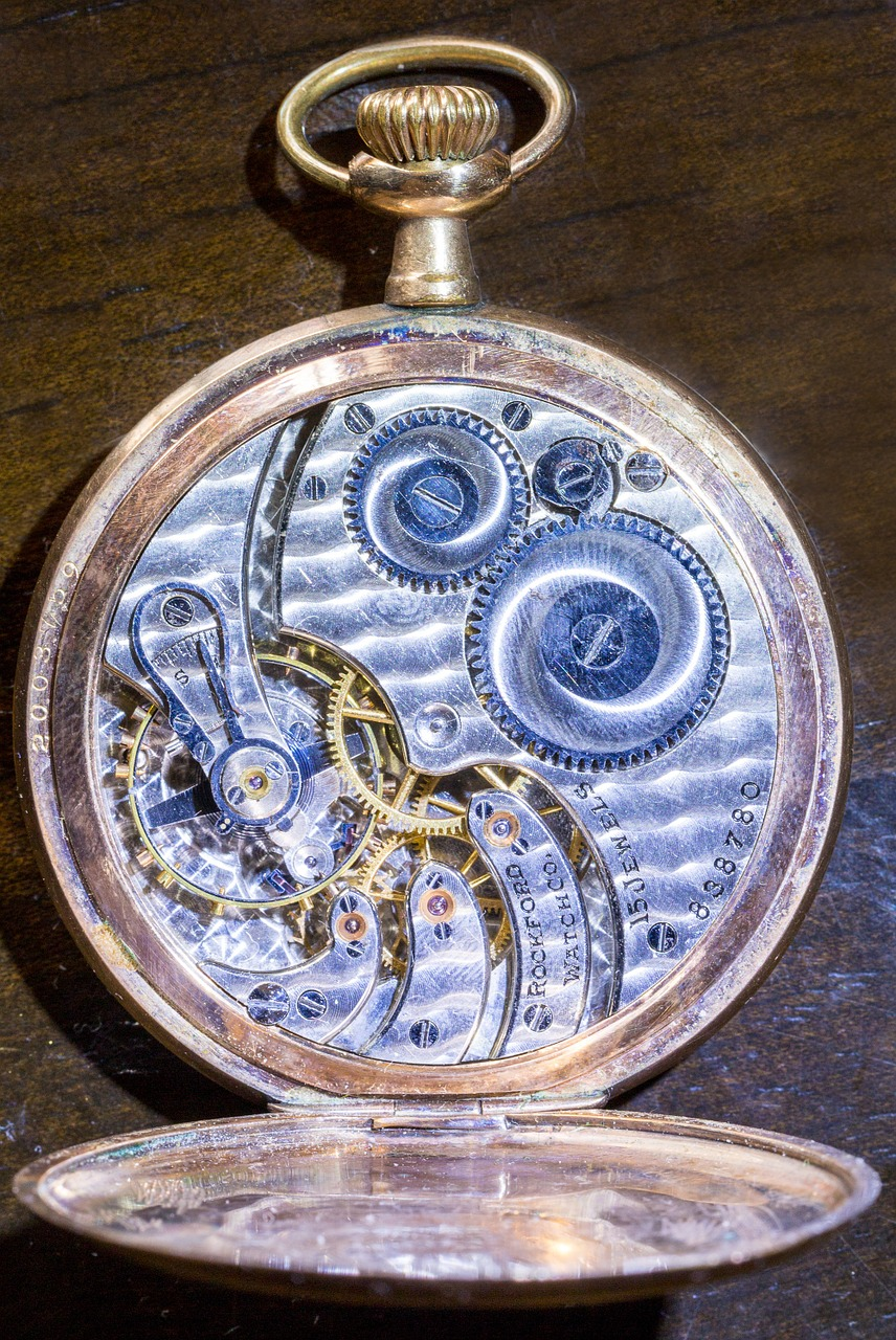 watch pocket watch time free photo