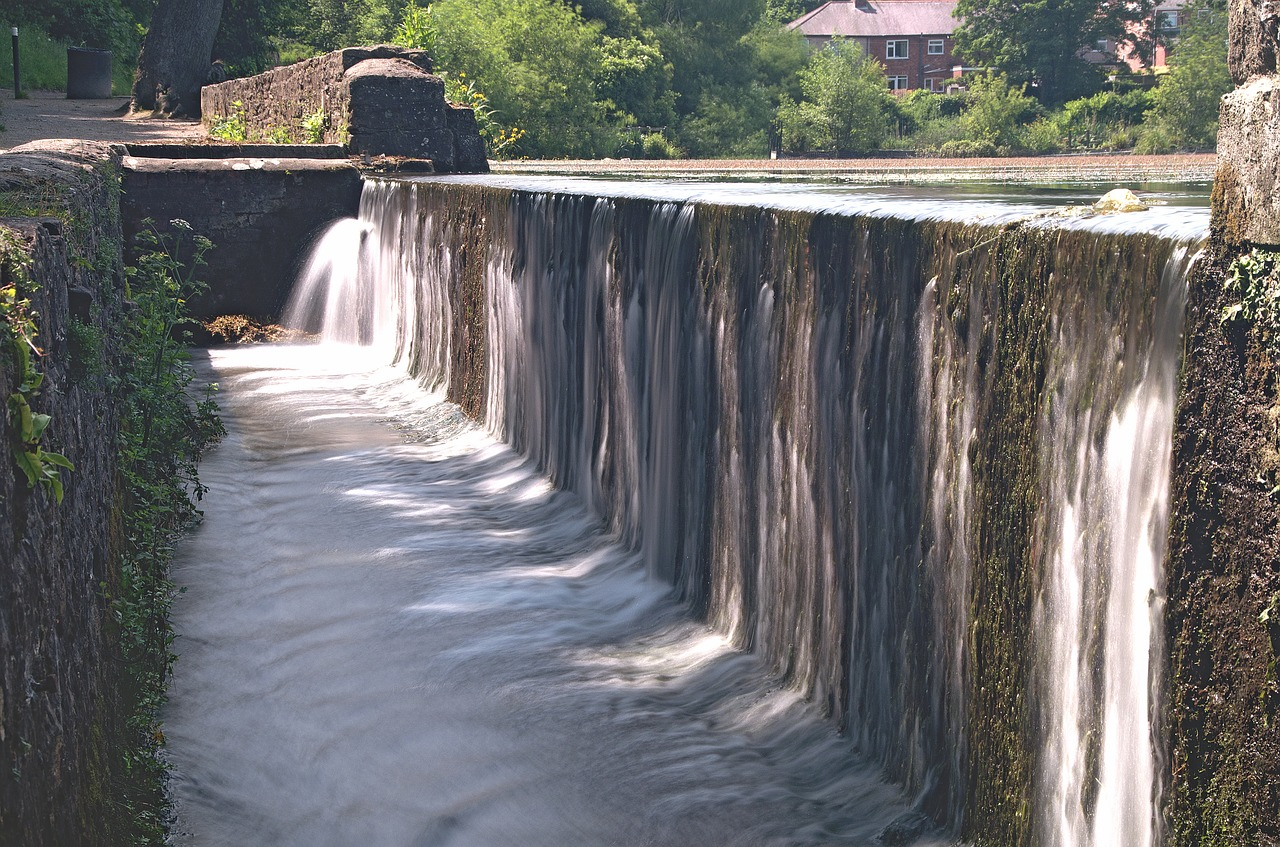 water flow flow old structure free photo
