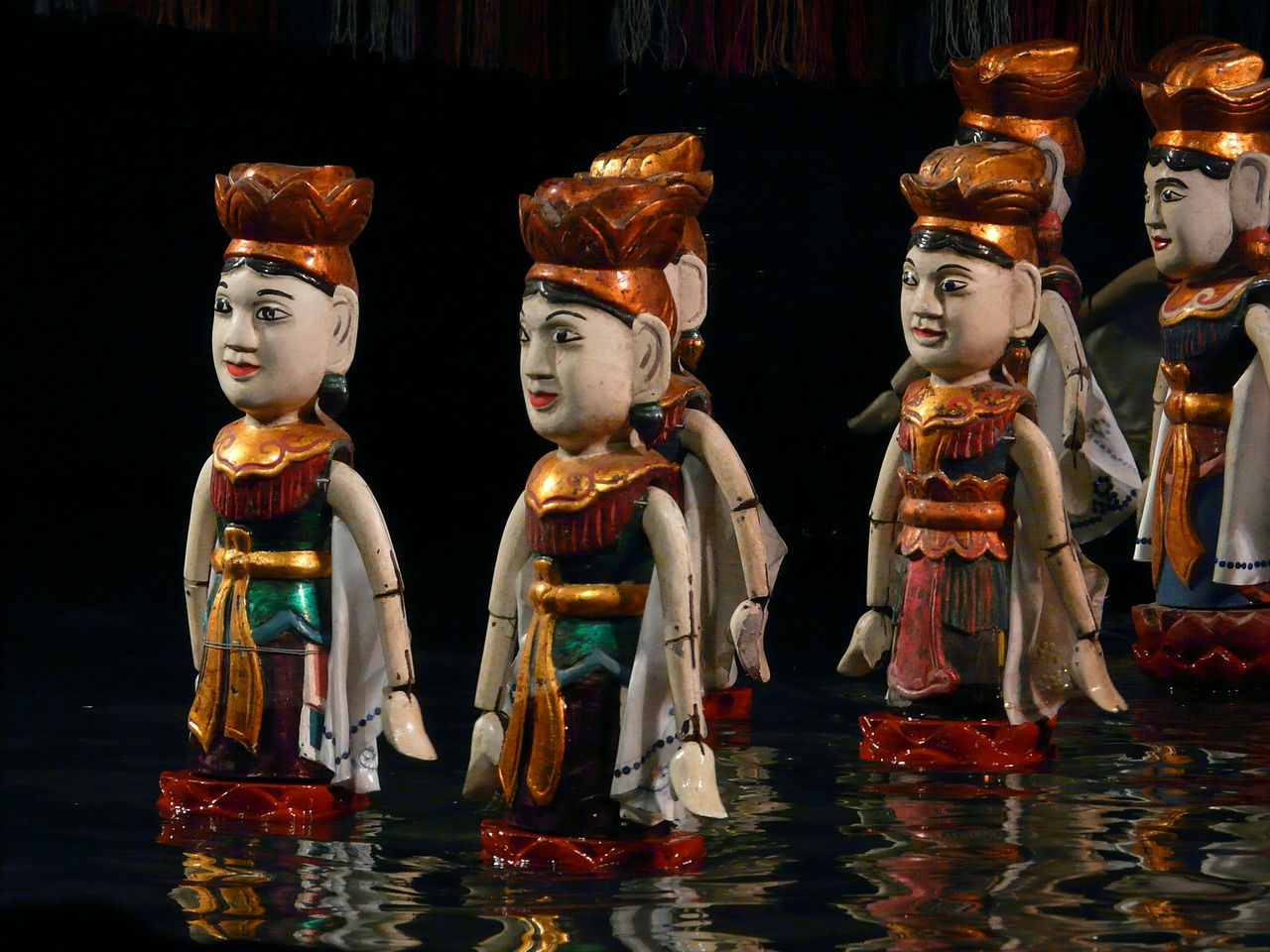 water puppet vietnam hanoi free photo