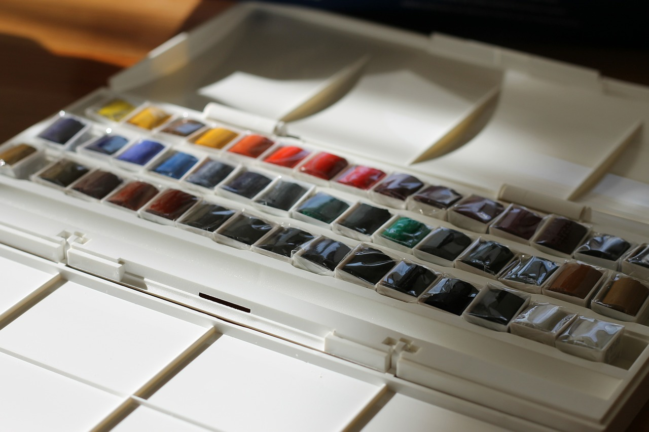 watercolor watercolour paints colorful free photo