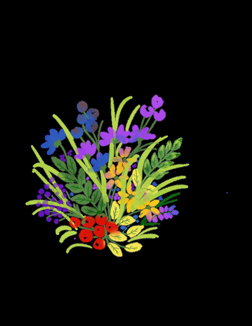 Watercolour Flower Spring Watercolor Floral Bouquet Free