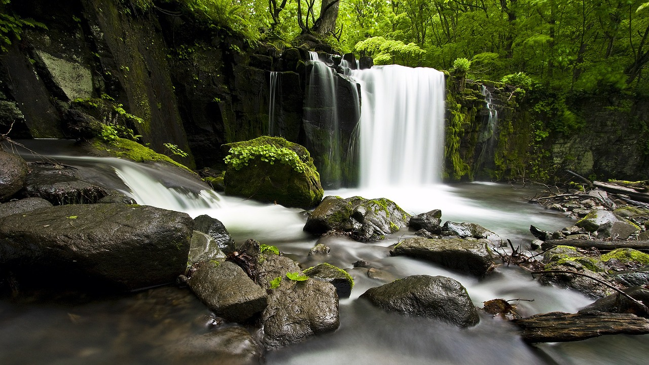 waterfall valley nature free photo