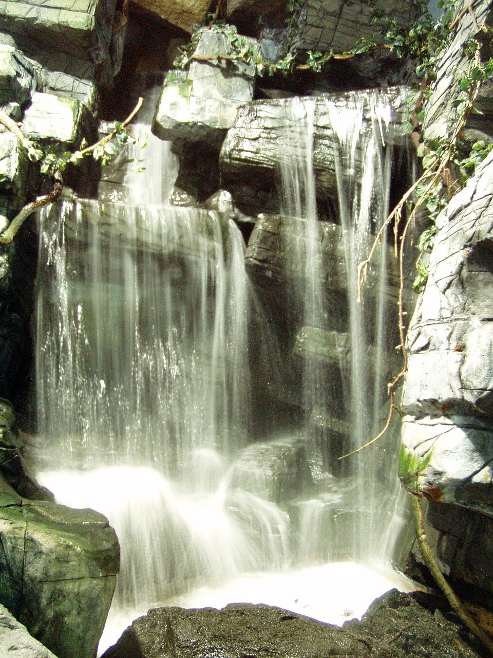 waterfall water rocks free photo