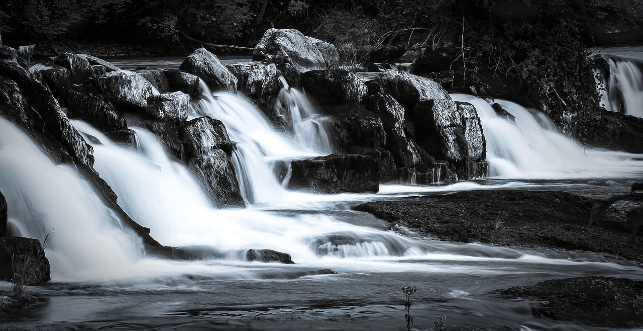 waterfall rock flow free photo