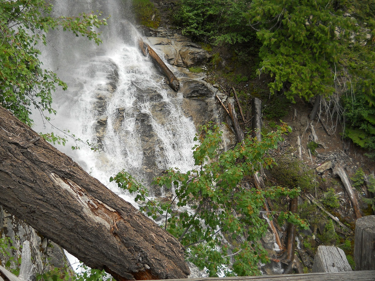 waterfall outdoors water free photo
