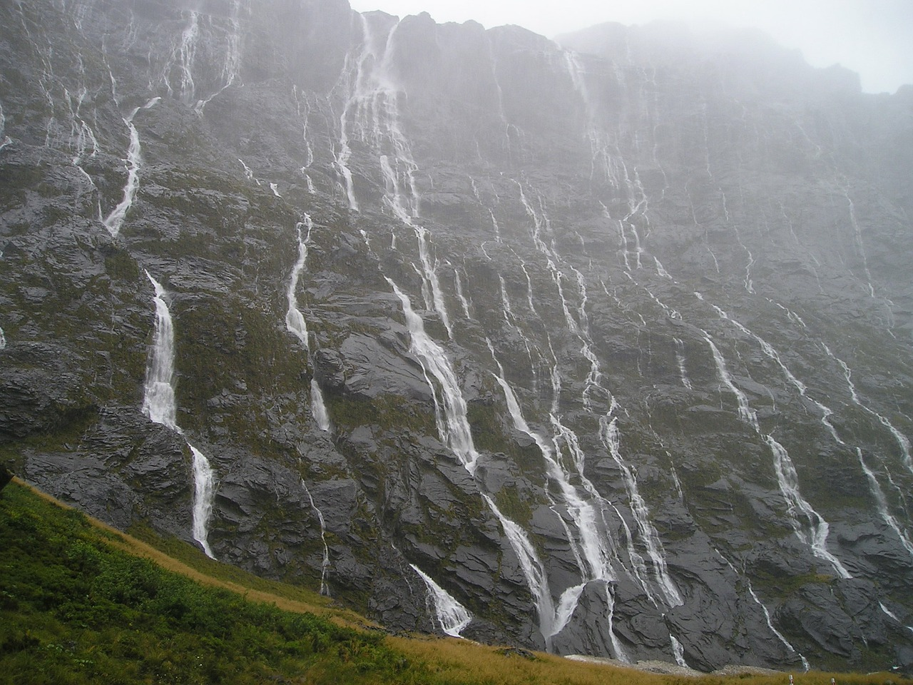 waterfalls new zealand fiordland free picture