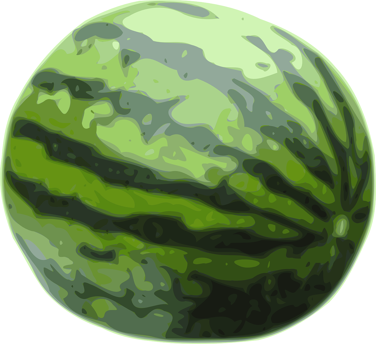 watermelon fruit green free photo