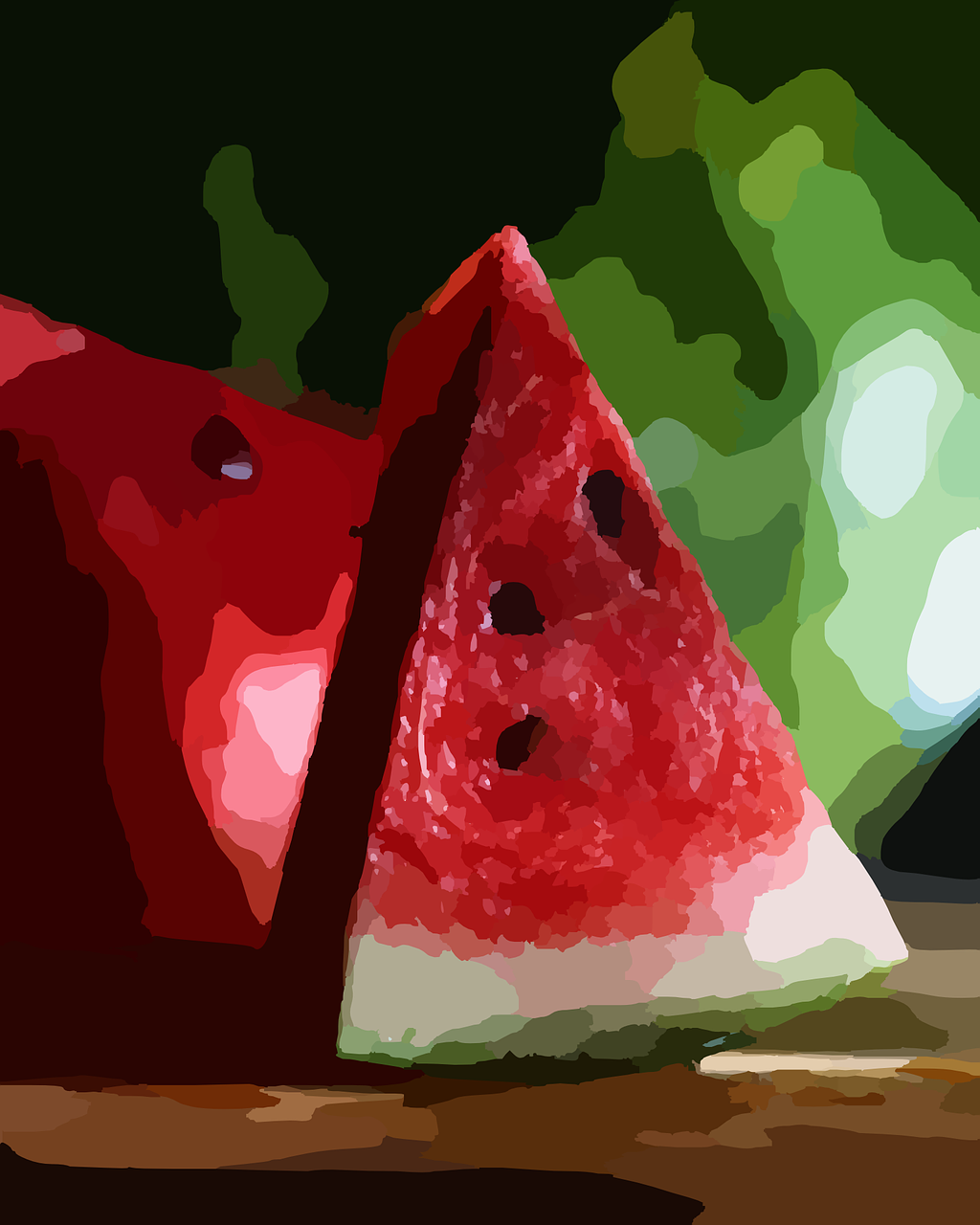 watermelons food melon free photo