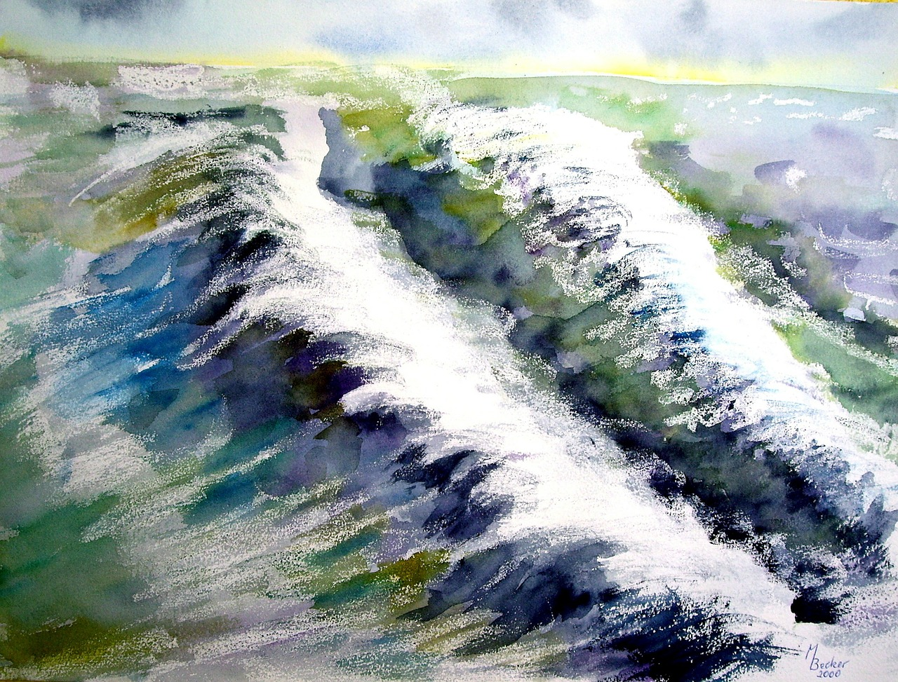 wave painting image free photo