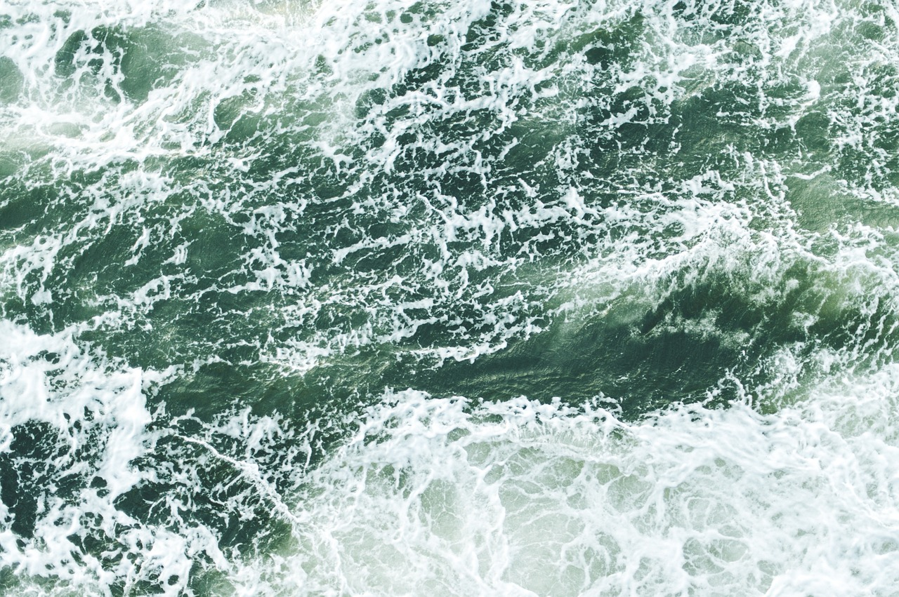 waves aerial view ocean free photo
