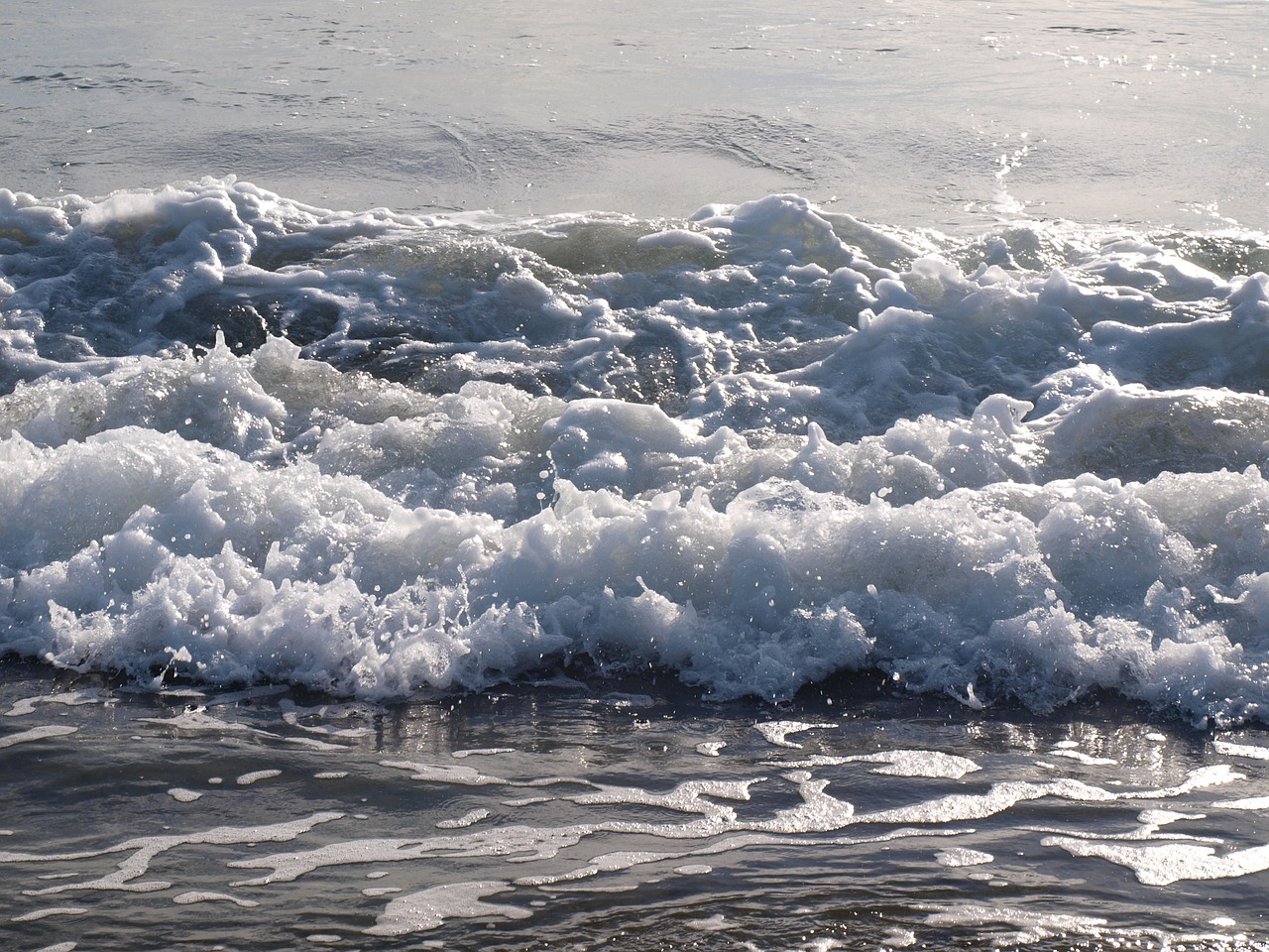 waves tides sea free photo
