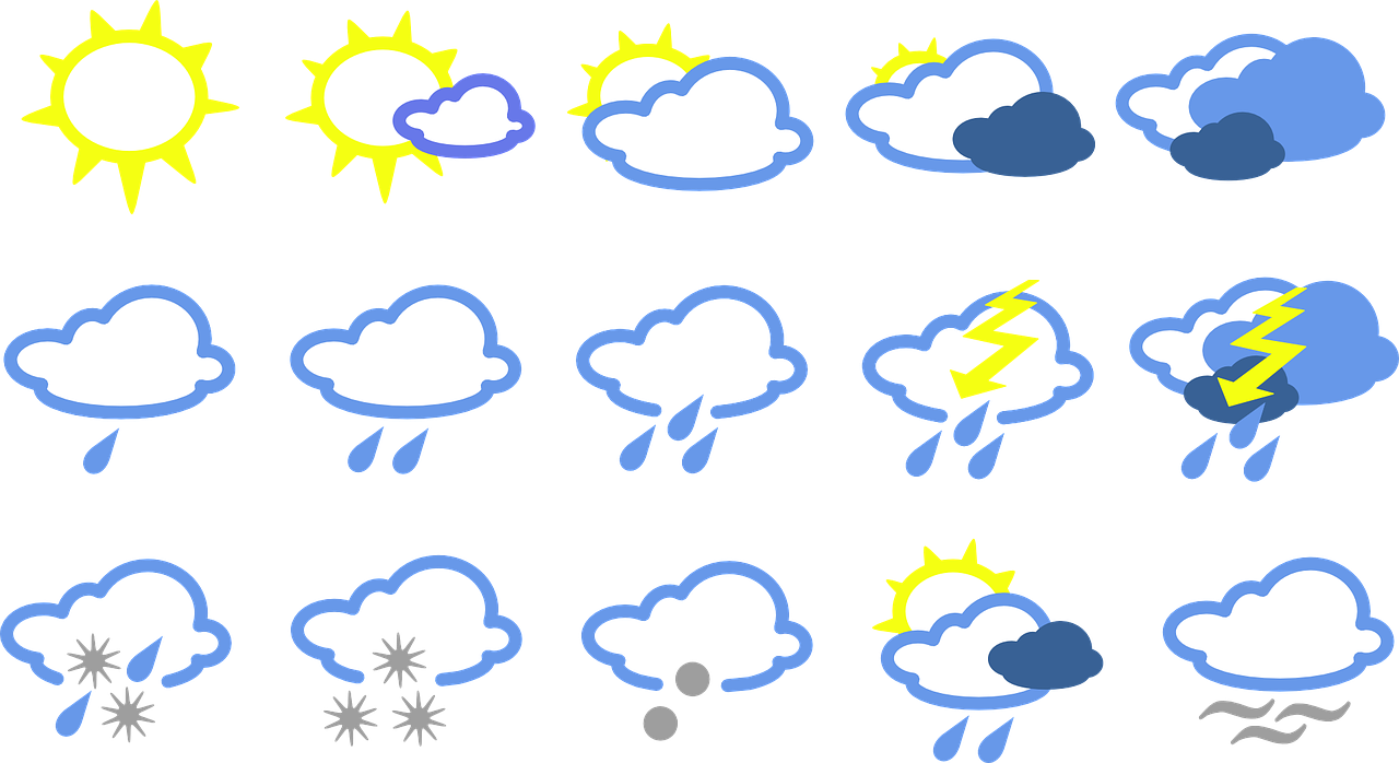 weather signs symbols free photo