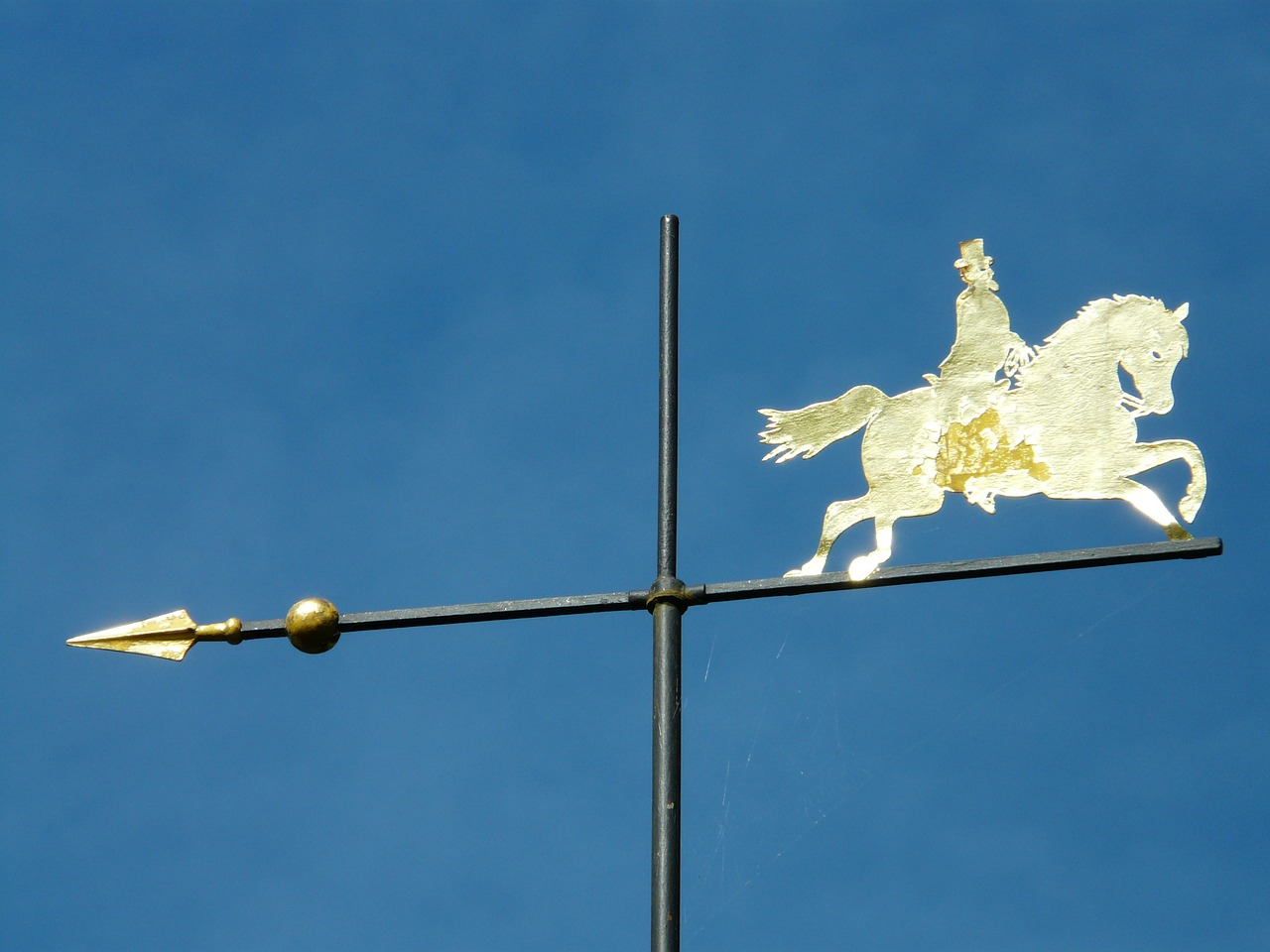 weathervane metal gold free photo