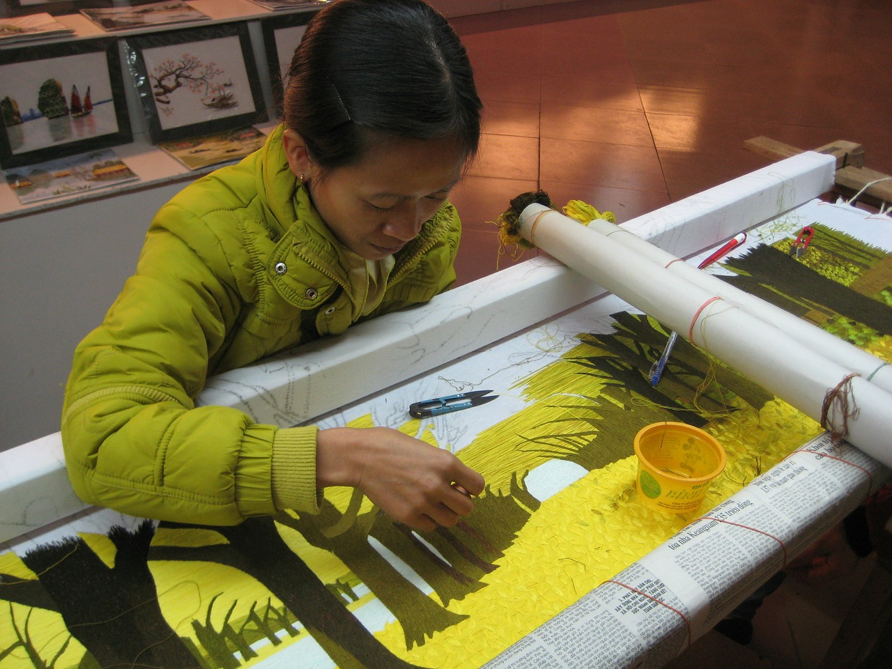 weaving woman vietnam free photo