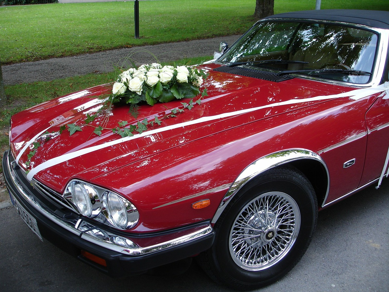 wedding car wedding auto free photo