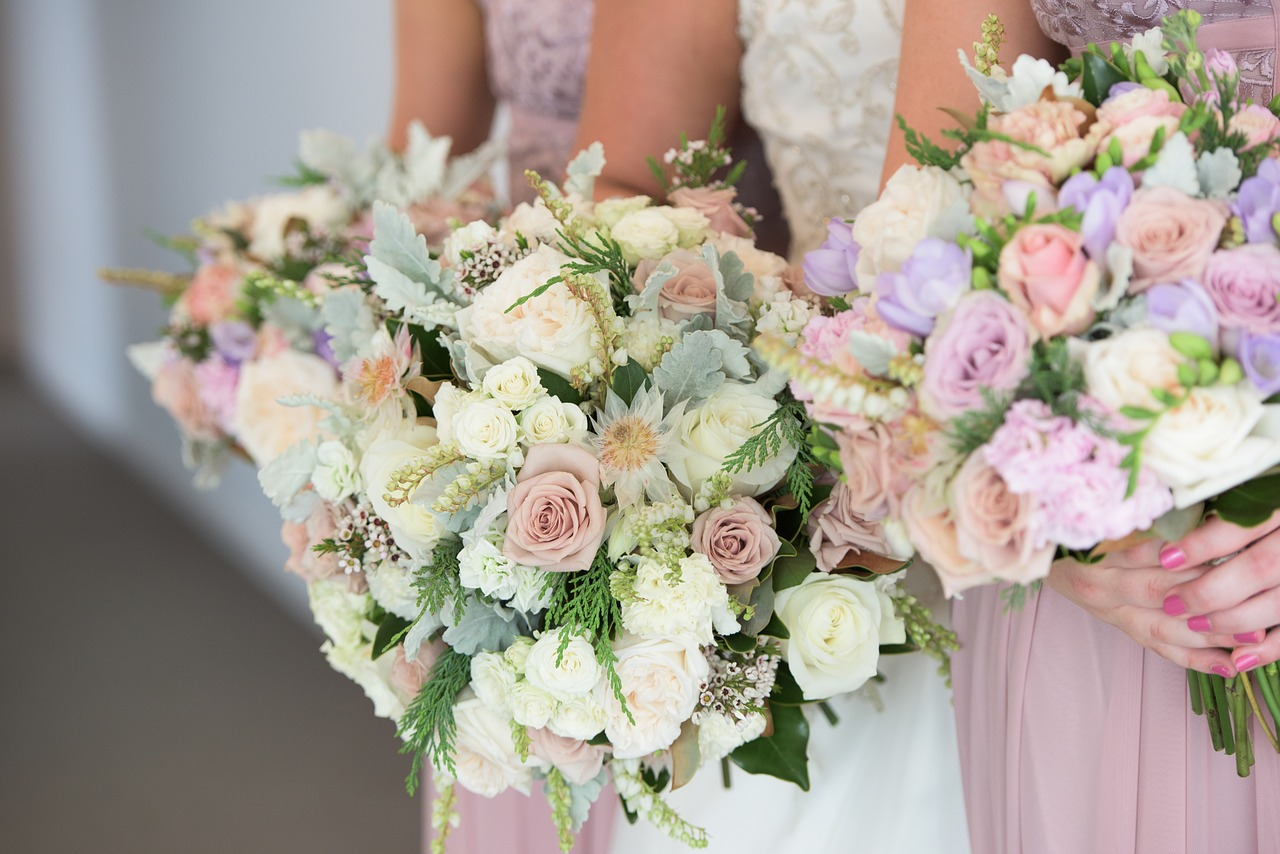 wedding flowers bouquet roses free photo