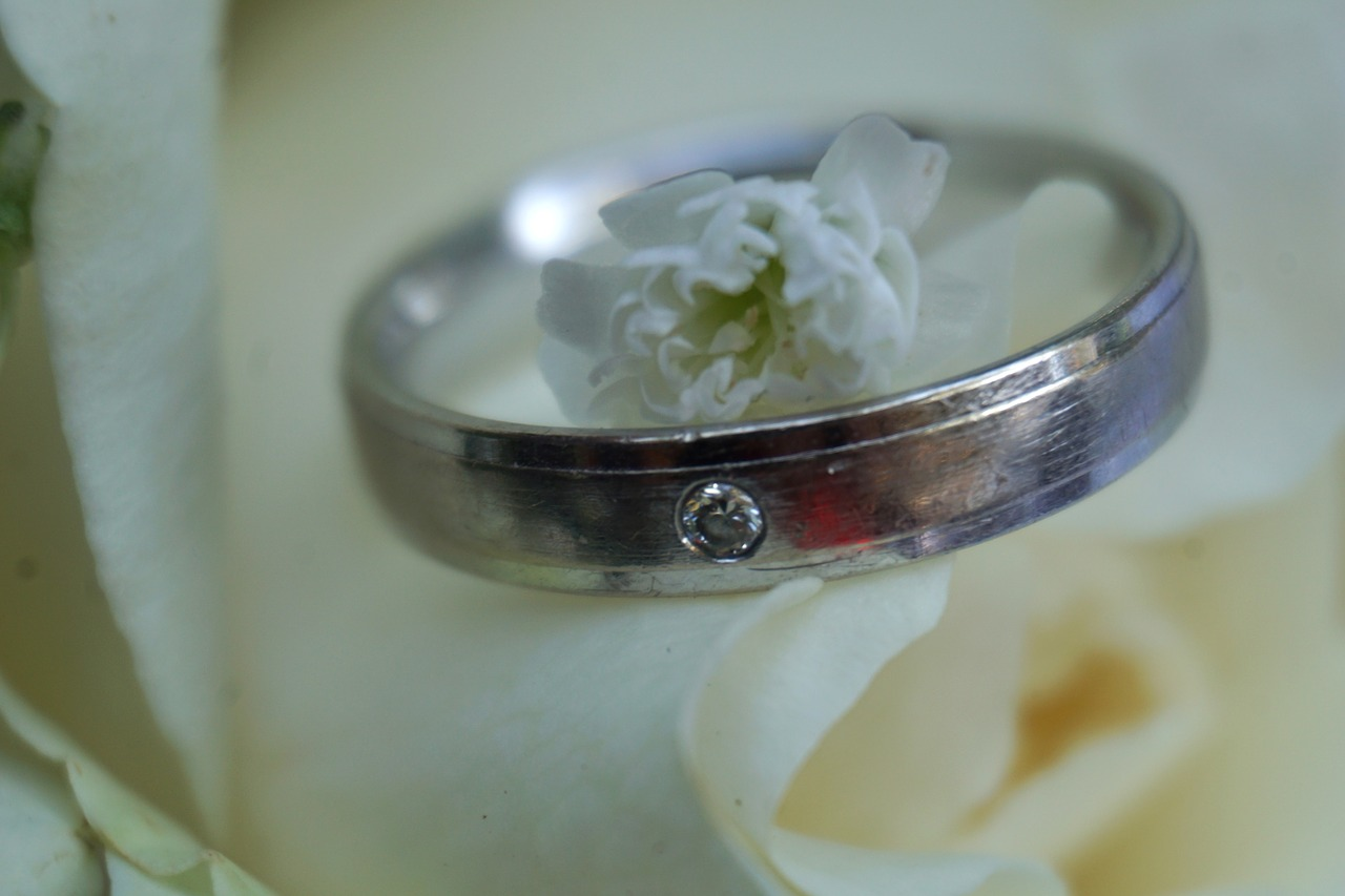 wedding ring  stone  ring free photo