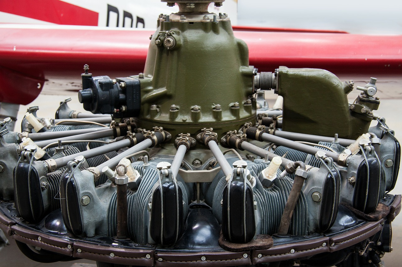 wedenejew m 14 9 cylinder radial engine air cooled free photo