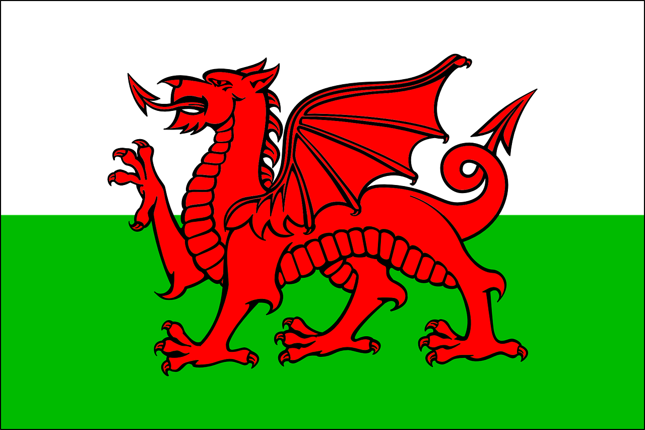 welsh flag,drag,national symbol,wales,heraldry,emblem,banner,free vector graphics,free pictures, free photos, free images, royalty free, free illustrations, public domain