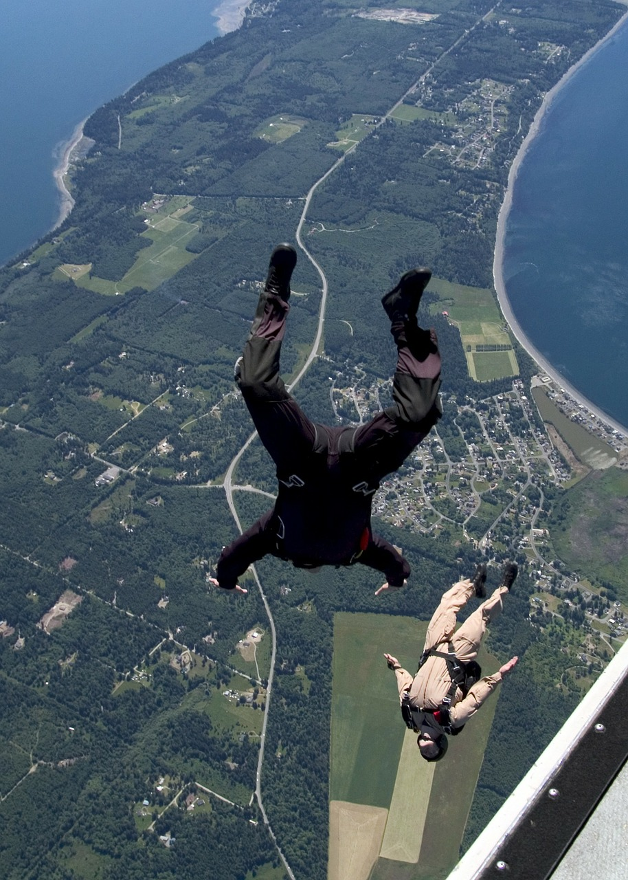 whidbey island washington skydiving free photo