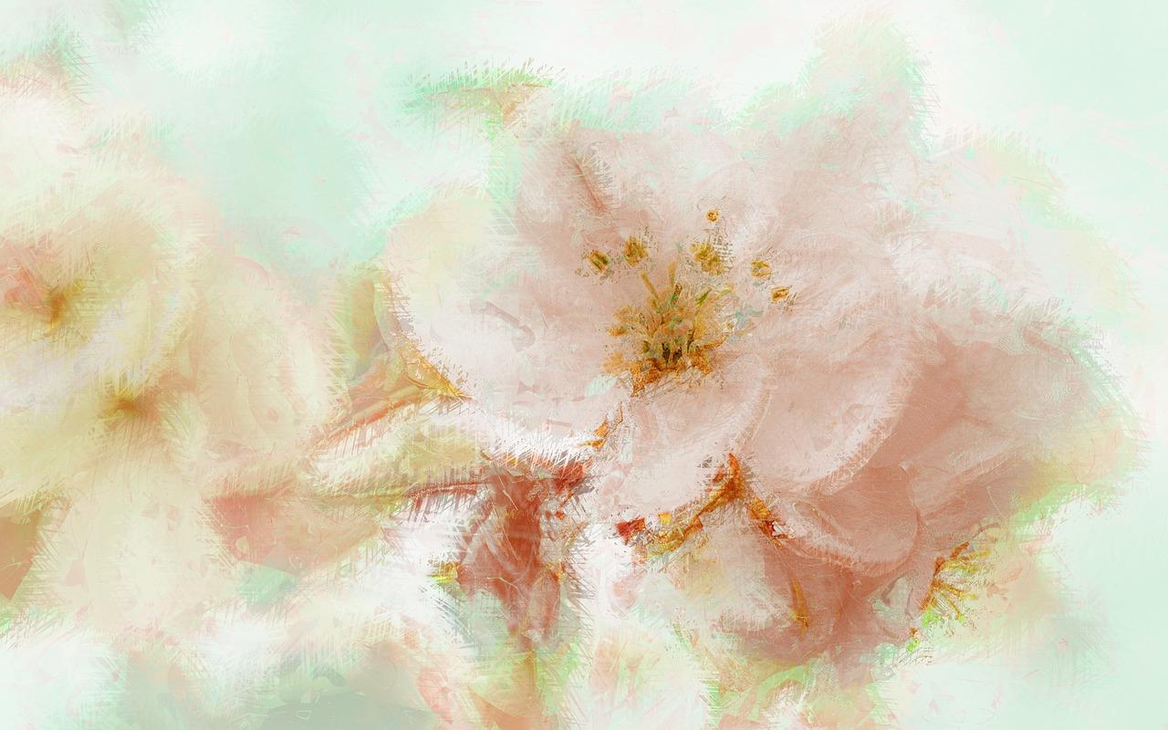 White Flowerspaintingartbackgroundfree Illustrations Free