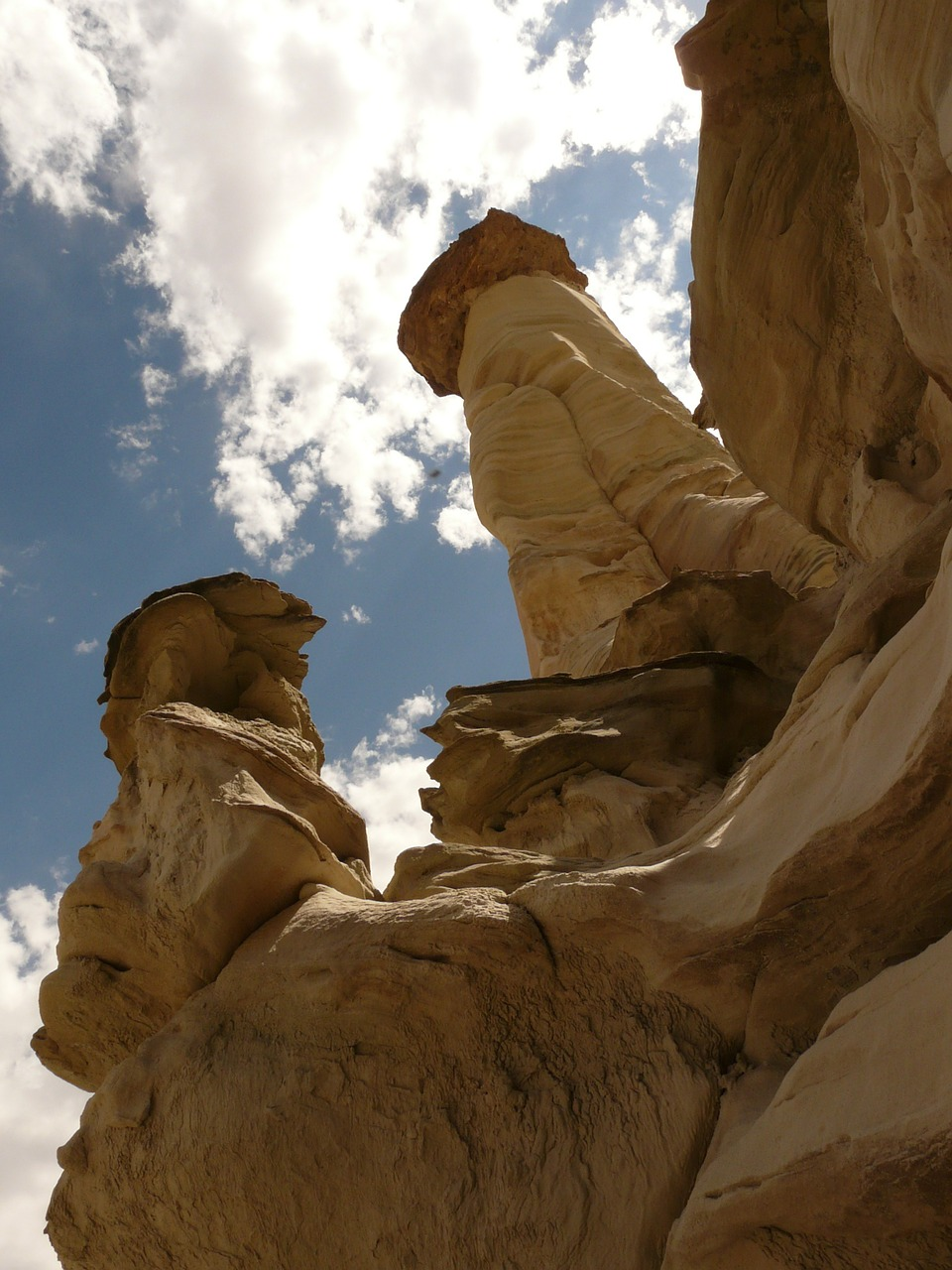 white hoodoos wahweap creek arizona free photo