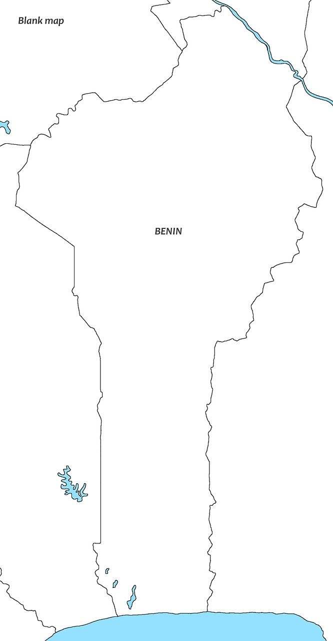 Map Of Africa Empty.White Map Beniin Benin Map Empty West Africa Free Image