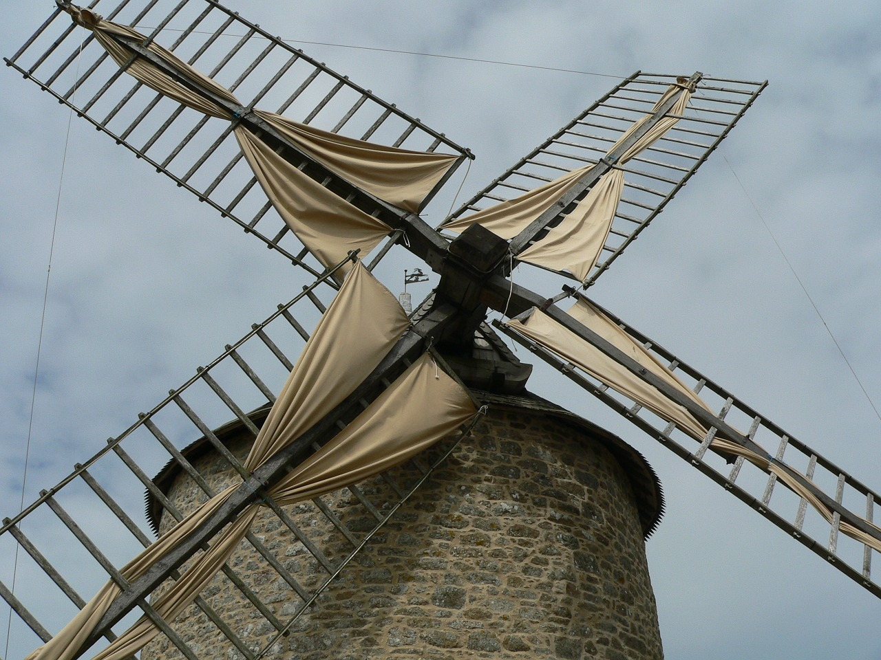 windmill rural old free photo