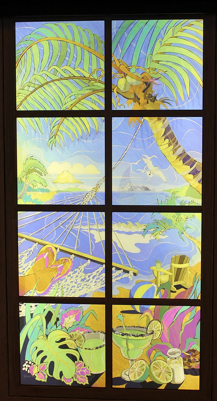 window tropical view free photo