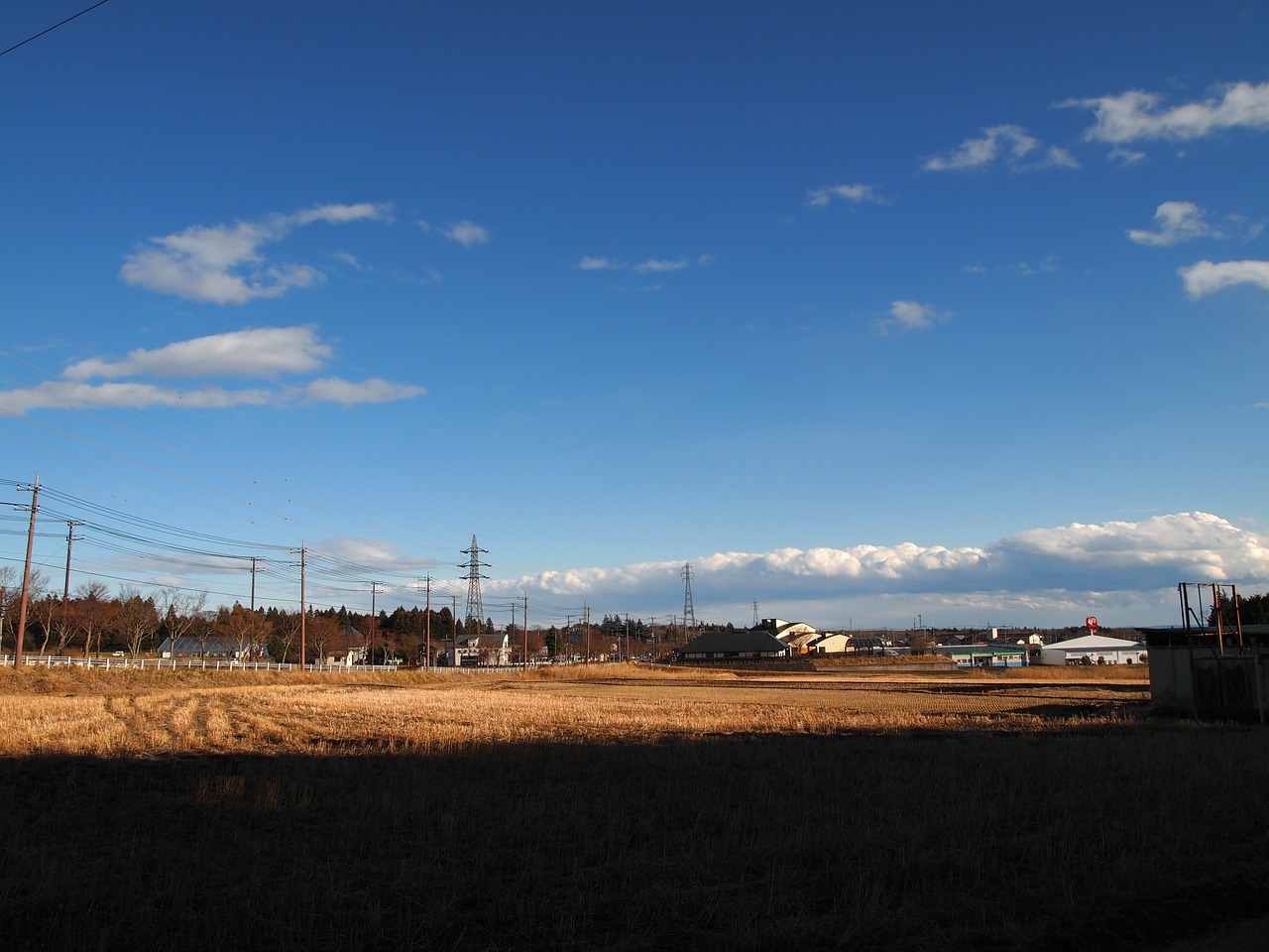 winter yamada's rice fields countryside free photo