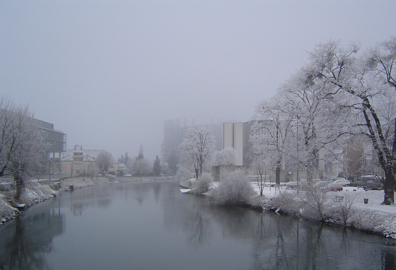 winter strasbourg european parliament free photo