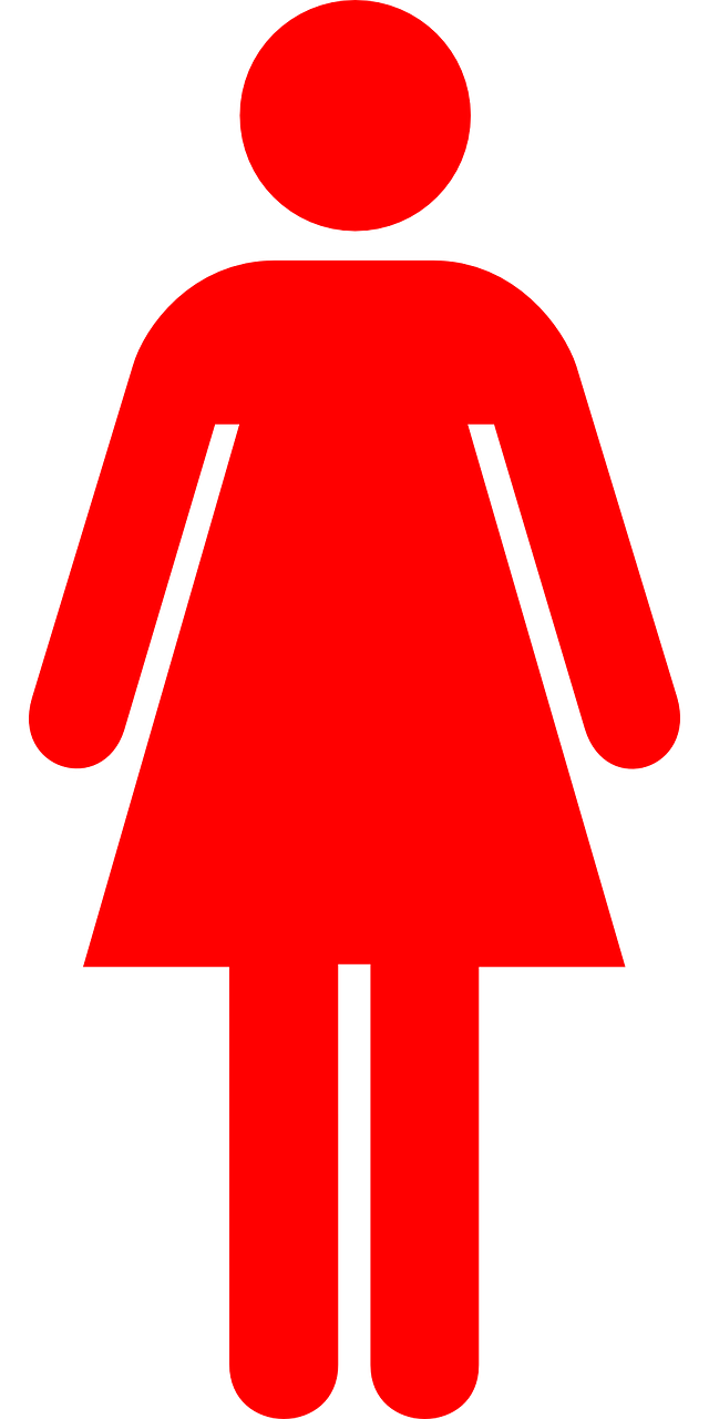 woman pictogram red free photo