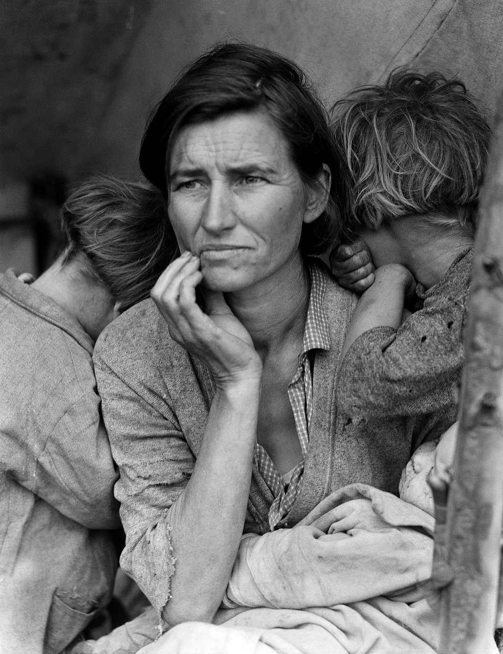 woman,children,florence thompson,portrait,black and white,migrant mother,great depression,usa,free pictures, free photos, free images, royalty free, free illustrations, public domain
