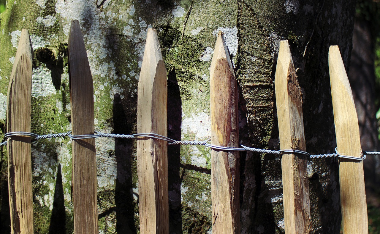 wood fence pole fence wooden fences free photo